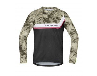 GORE BIKE WEAR POWER TRAIL long-sleeved cycling shirt camouflage/black