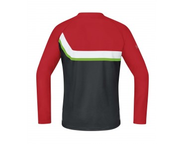 GORE BIKE WEAR POWER TRAIL long-sleeved cycling shirt red/black