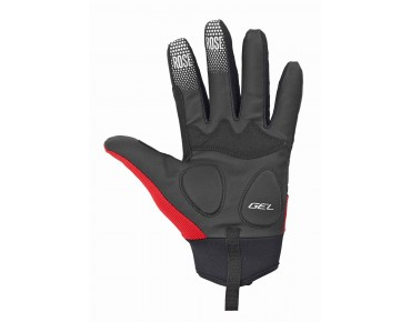 ROSE GEL III full-finger gloves black/red