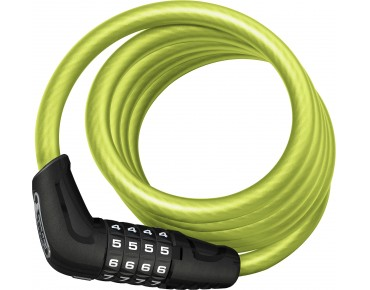 ABUS Numero 5510C spiral cable lock lime