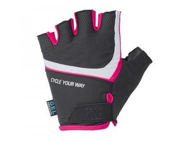 ROSE LADY CYW Handschuhe black/teaberry/white