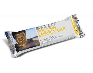 Squeezy Protein Energy Bar protein-carbohydrate bar vanilla with chocolate glaze