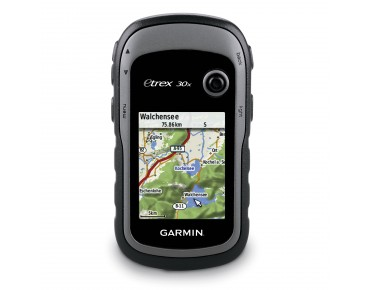 Garmin eTrex 30x GPS navigation device incl. TopoActive map of Western Europe black