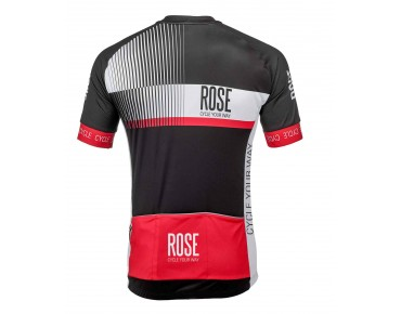 ROSE TOP CYW jersey met korte mouwen black/white/red