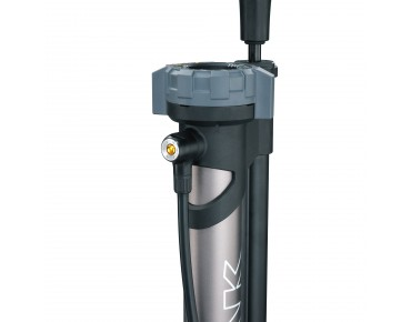 Topeak JoeBlow Booster floor pump for tubeless tyres grau