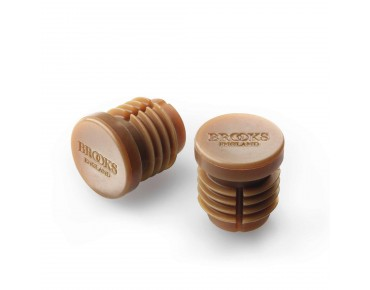 Brooks handlebar end plugs for Cambium natural