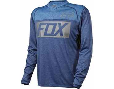FOX INDICATOR long-sleeved cycling shirt heather blue