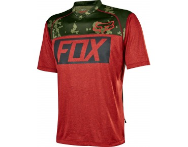 FOX INDICATOR PRINT cycling shirt heather red