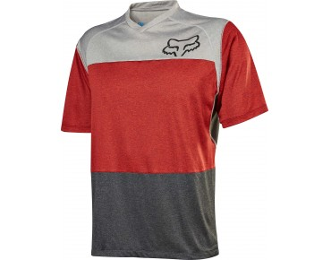 FOX INDICATOR cycling shirt heather red