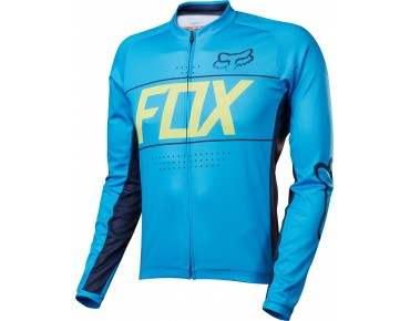 FOX ASCENT Langarm Trikot cyan