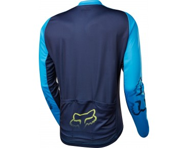 FOX ASCENT long-sleeved jersey cyan