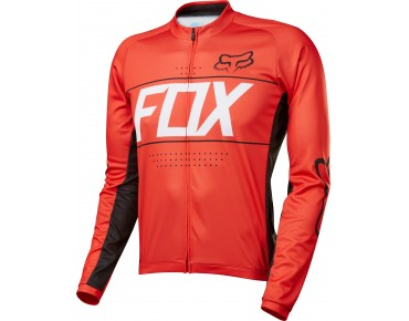 FOX ASCENT Langarm Trikot red