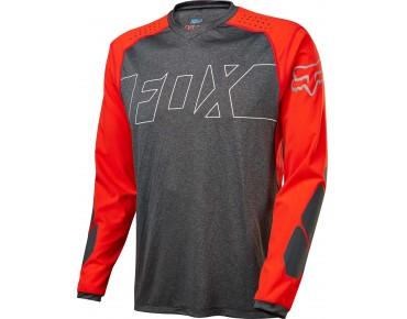 FOX EXLORE long-sleeved shirt black/red