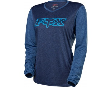 FOX INDICATOR long-sleeved cycling shirt for women heather navy