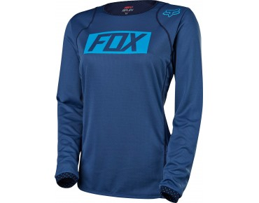 FOX RIPLEY long-sleeved cycling shirt for women navy