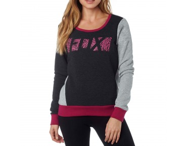 FOX LIBRA CREW Damen Pullover heather black