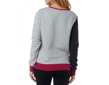 FOX LIBRA CREW women's sweater heather black
