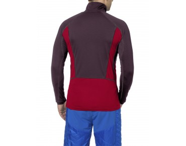 VAUDE LA LUETTE Thermo-Langarmtrikot indian red/raisin