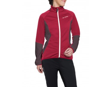 VAUDE RESCA women's soft shell jacket indian red