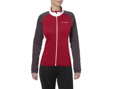 VAUDE MATERA II women's long-sleeved jersey indian red/raisin