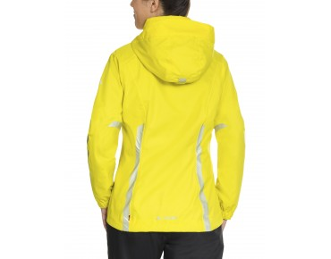 VAUDE LUMINUM waterproof jacket for women canary