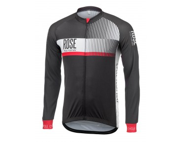 TOP CYW thermal long-sleeved jersey black/white/red