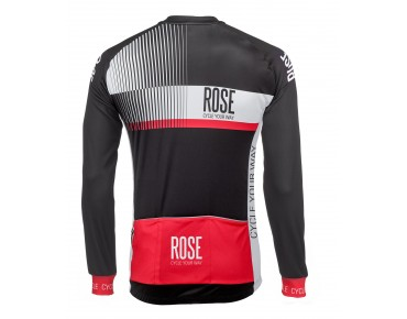 ROSE TOP CYW thermojersey met lange mouwen black/white/red