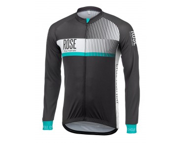 ROSE TOP CYW thermojersey met lange mouwen black/white/malibu