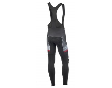 ROSE 4/4 TOP CYW thermal bib tights black/white/red