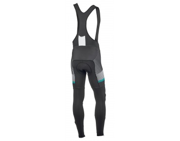 ROSE 4/4 TOP CYW thermal bib tights black/white/malibu
