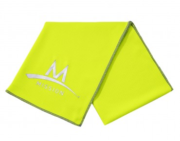 MISSION TECHKNIT COOLING towel high vision green