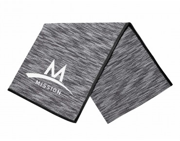 MISSION TECHKNIT COOLING TOWEL SPACE DYE black