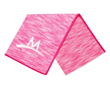 MISSION TECHKNIT COOLING TOWEL SPACE DYE pink