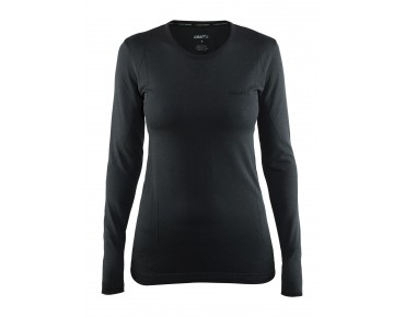 CRAFT ACTIVE COMFORT women's long-sleeved base layer black solid