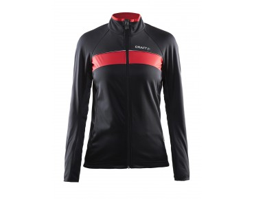 CRAFT SIBERIAN women's softshell jacket black/bright red