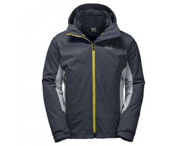 Jack Wolfskin SCOTT BASE 3in1 winter jacket ebony