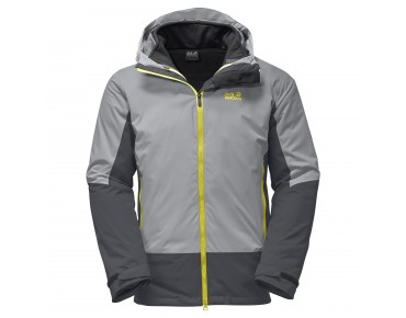 Jack Wolfskin DISCOVERY COVE 3in1 winter jacket alloy
