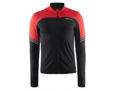 CRAFT VELO thermal long-sleeved jersey black/bright red