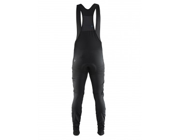 CRAFT VELO thermal windbreaker bib tights black/flumino