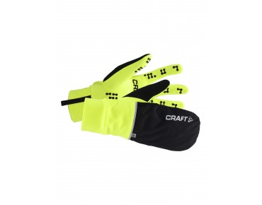 CRAFT HYBRID WEATHER gloves flumino/black