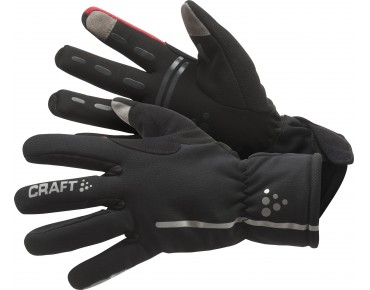 CRAFT SIBERIAN - guanti black/red