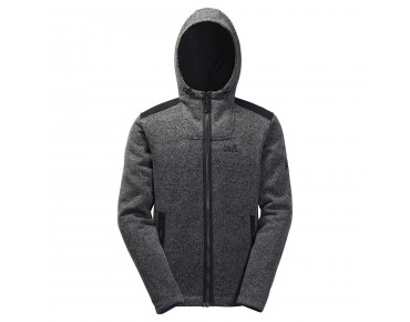 Jack Wolfskin BLACK CASTLE fleece jacket black/alloy