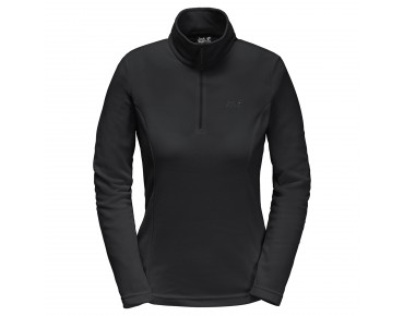 Jack Wolfskin GECKO women's fleece shirt black