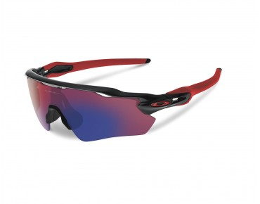 OAKLEY RADAR EV Path Sportbrille polished black w/positiv red iridium