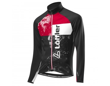 Löffler STYLES FZ thermal long-sleeved jersey schwarz/rot
