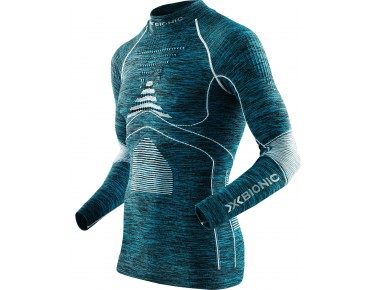 X BIONIC ACCUMULATOR EVO MELANGE long-sleeved base layer blue/melange/white