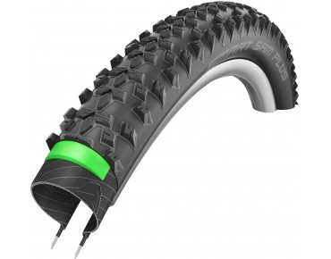 Schwalbe SMART SAM PLUS Performance Line MTB tyre HS 367, clincher tyre schwarz