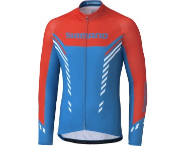 SHIMANO WINTER PRINT long-sleeved jersey blue