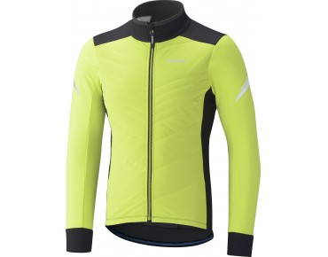 SHIMANO WINDBREAKER INSULATED winter jacket neon yellow