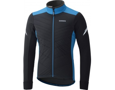 SHIMANO WINDBREAKER INSULATED winter jacket black/lightning blue